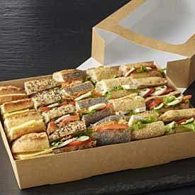 Plateau végétarien de mini 20 sandwiches
