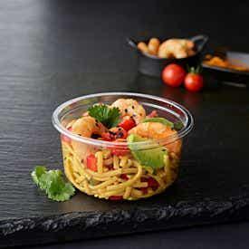Salade crevettes curcuma