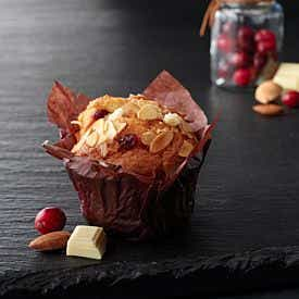 Muffin chocolat blanc et cranberries