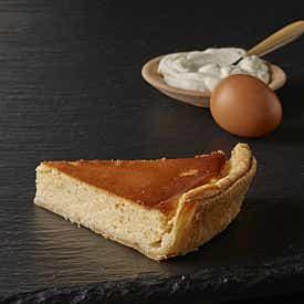 Part de tarte au fromage blanc